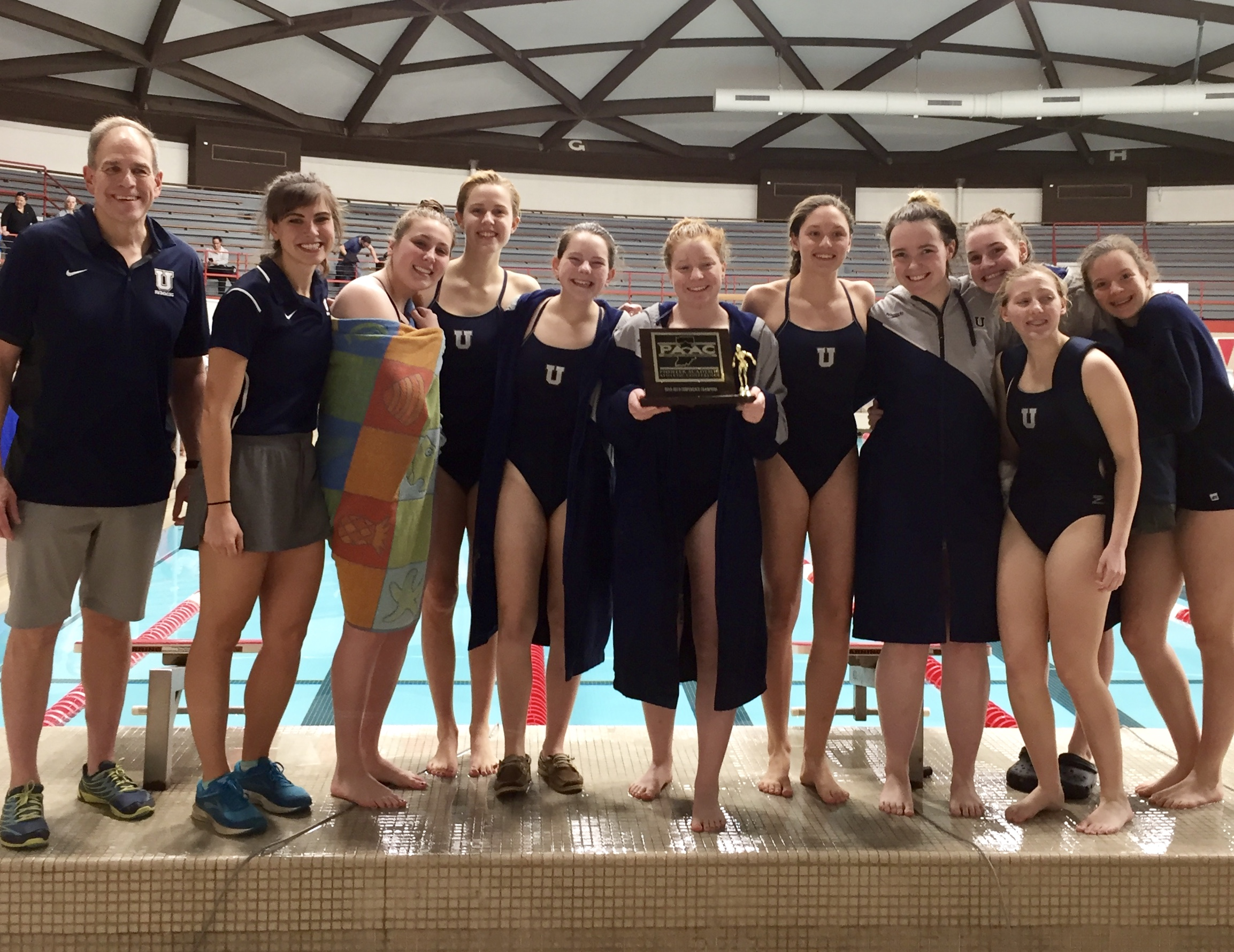 Girls Swimming Wins First Conference Title