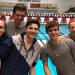 Swim Team Celebrates Senior Night at IU Natatorium