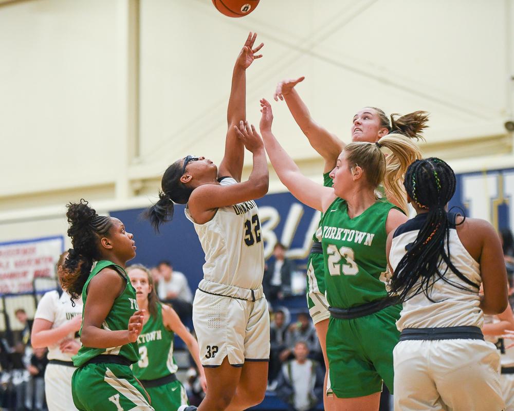 Girls Varsity Basketball beats Yorktown 66 – 54