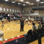 Holy Family High School Girls Varsity Volleyball beat Erie High School 3-0