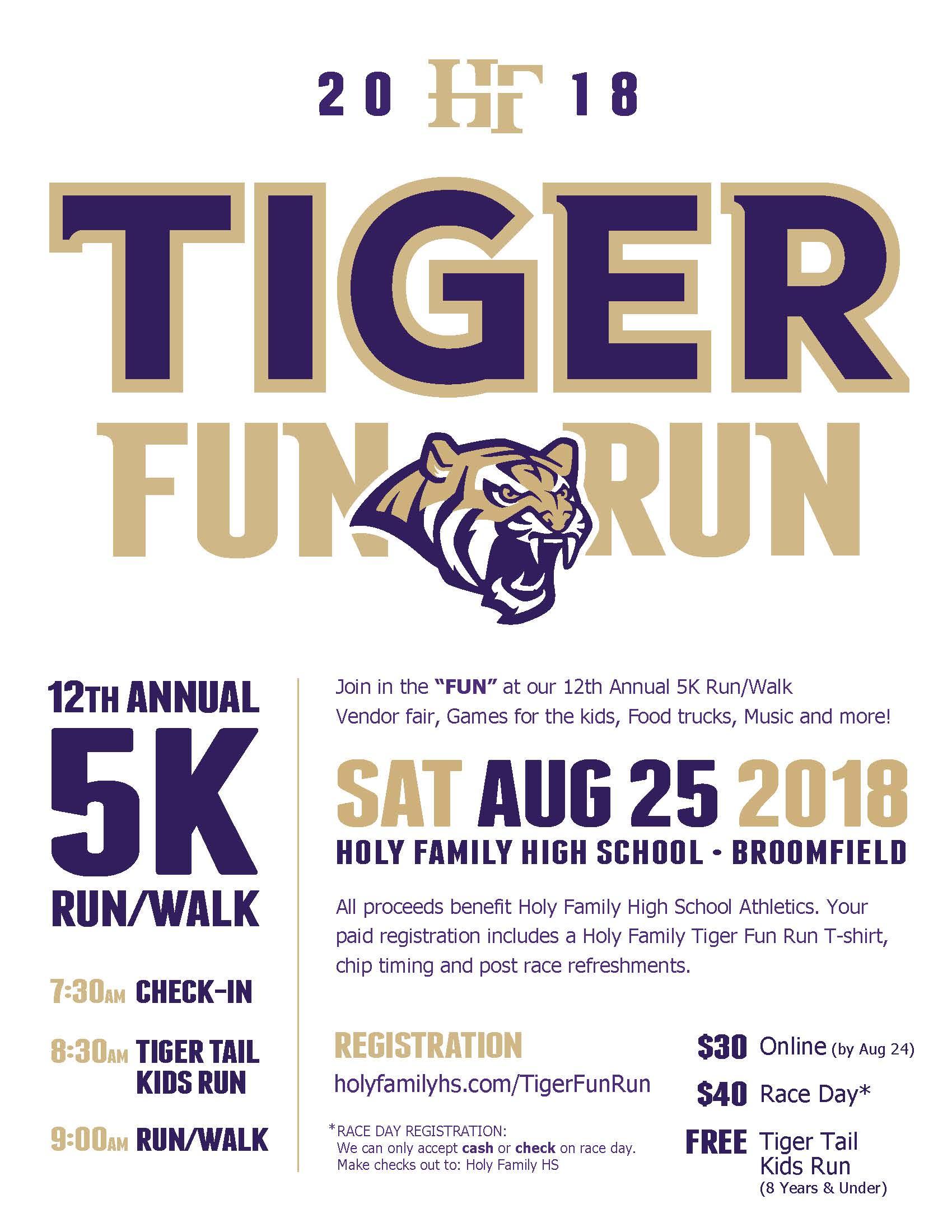 Tiger Fun Run 2018