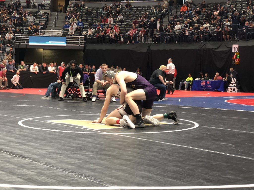 State wrestling: Branson halfway home to state title