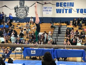 State gymnastics: Ava Silverstein competing for Niwot