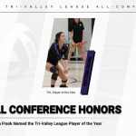 Volleyball: Frank named Tri-Valley Player of the Year