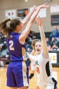 Girls basketball: at Erie (1/8) — Photos by Rachel Wells