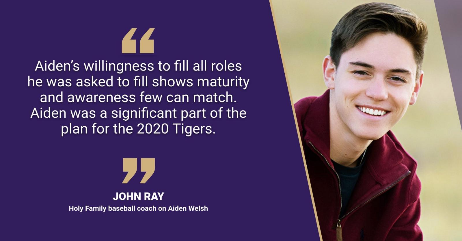Senior Spotlight: Baseball player Aiden Welsh