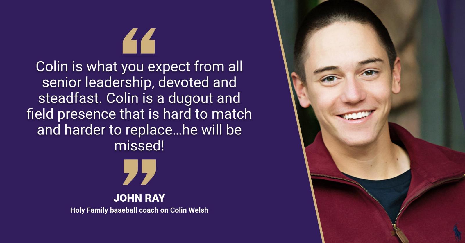 Senior Spotlight: Baseball player Colin Welsh