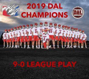 Boy's Lacrosse 2019 DAL Champions