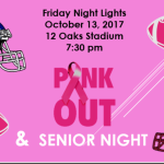 Friday Night Lights/Senior Night!