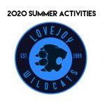 2020 Summer Activities