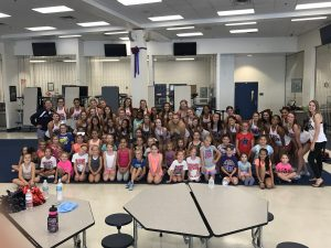 Little Eagles Cheer Camp and Cheer Community Service