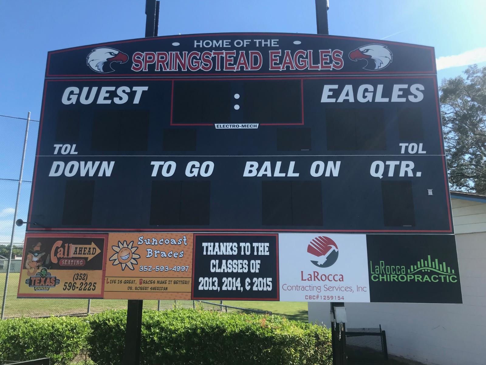 New Stadium Scoreboard Up and Running