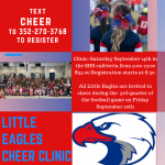 Little Eagles Cheer Clinic – 9/14