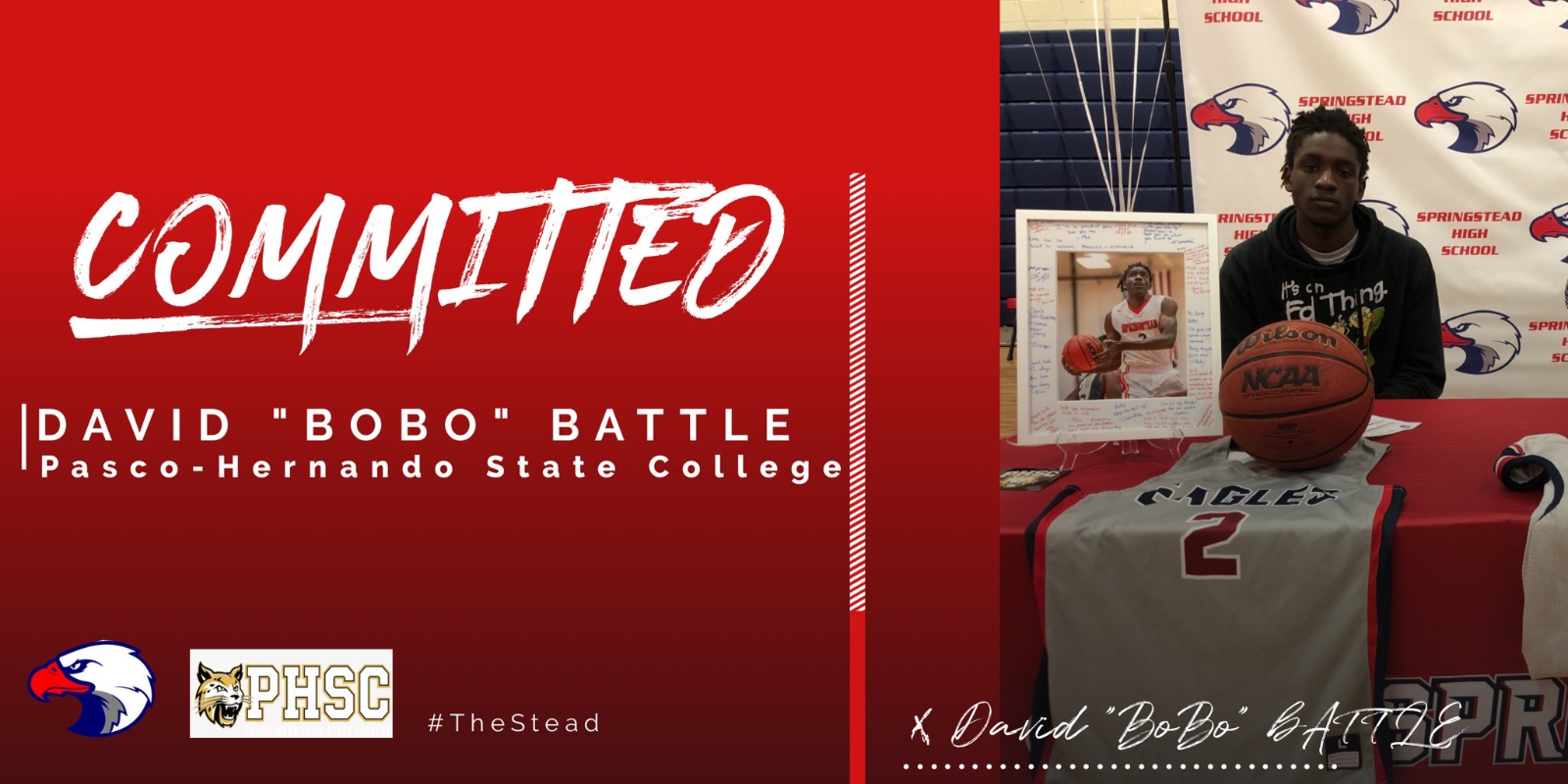 """David """"Bobo"""" Battle Signs with Pasco-Hernando State College"""