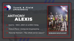 Spring Sport Senior Spotlight: Anthony Alexis