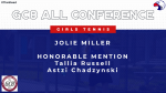 Miller Named GC8 All Conference Girls Tennis