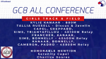 GC8 All Conference Girls Track & Field