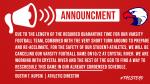 10/2 Varsity Football Game vs Crystal River Postponed