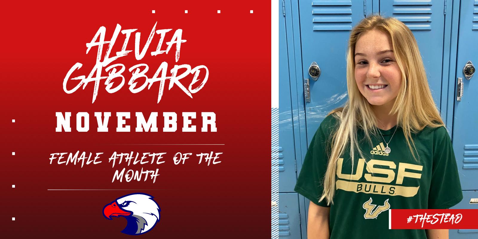 Alivia Gabbard – November Female Athlete of the Month