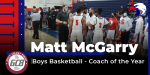 Coach McGarry Named GC8 Boys Basketball Coach of the Year