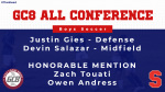 Gies and Salazar Named to GC8 All-Conference Team