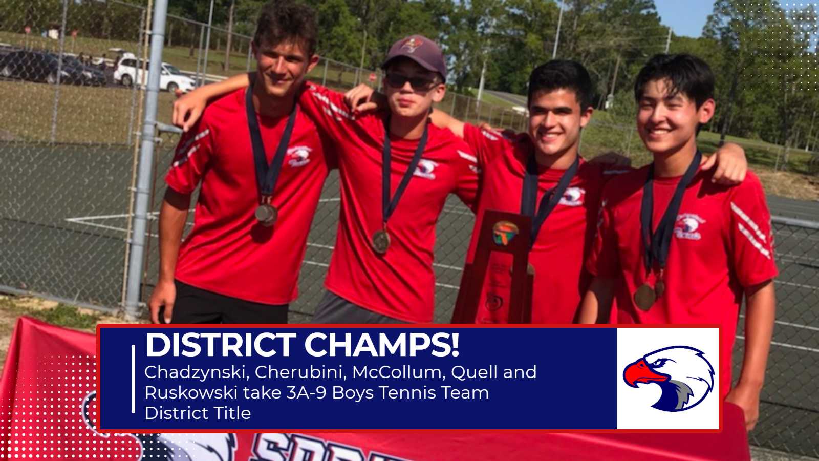Boys Tennis Claims 3A-9 District Title