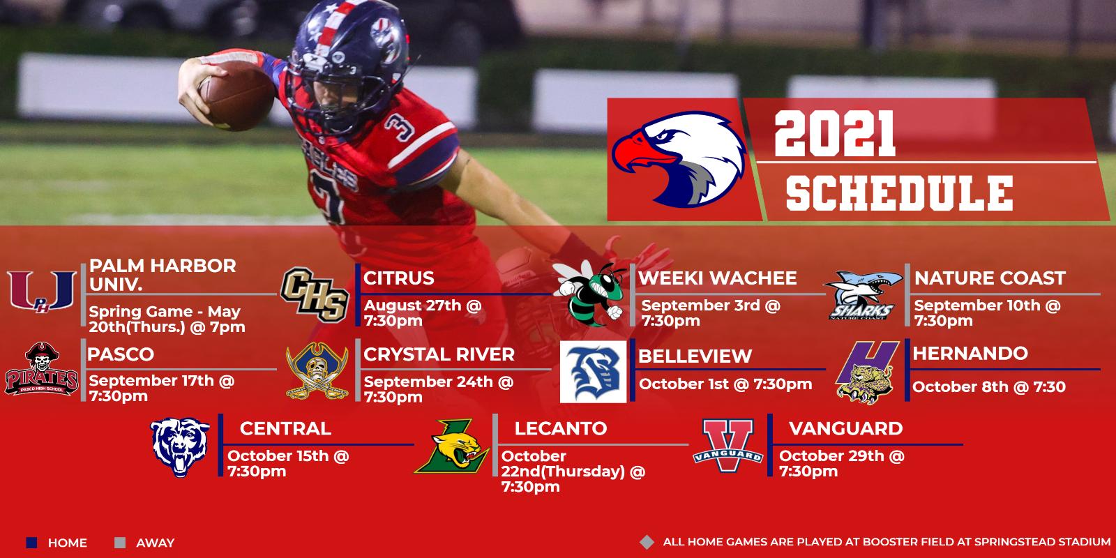 2021 Varsity Football Schedule Released!