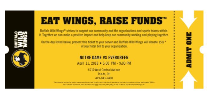 Buffalo Wild Wings Challenge Final- April 11th, from 5-9 pm