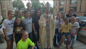 Pre-season CYO Mass with Bishop Thomas