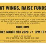 NDA Night at Buffalo Wild Wings- March 9th!
