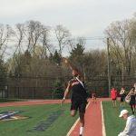Adam Harris jumps 19'8″