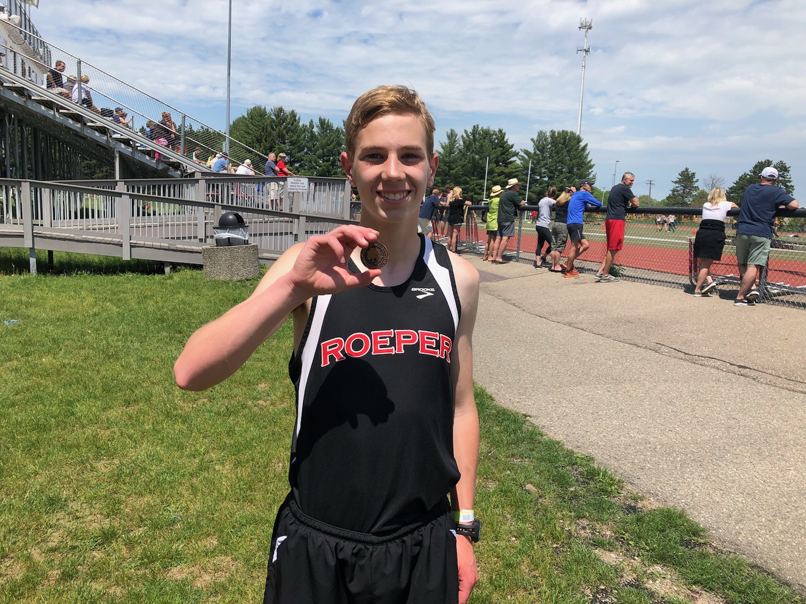 Will Hoover takes 3rd at Oakland County Freshman Meet