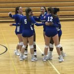 Girls Varsity Volleyball beats Lawrence 3 – 0