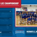 Girls Varsity Volleyball beats Hearts for LEC Championship