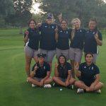Girls Golf wins a close match