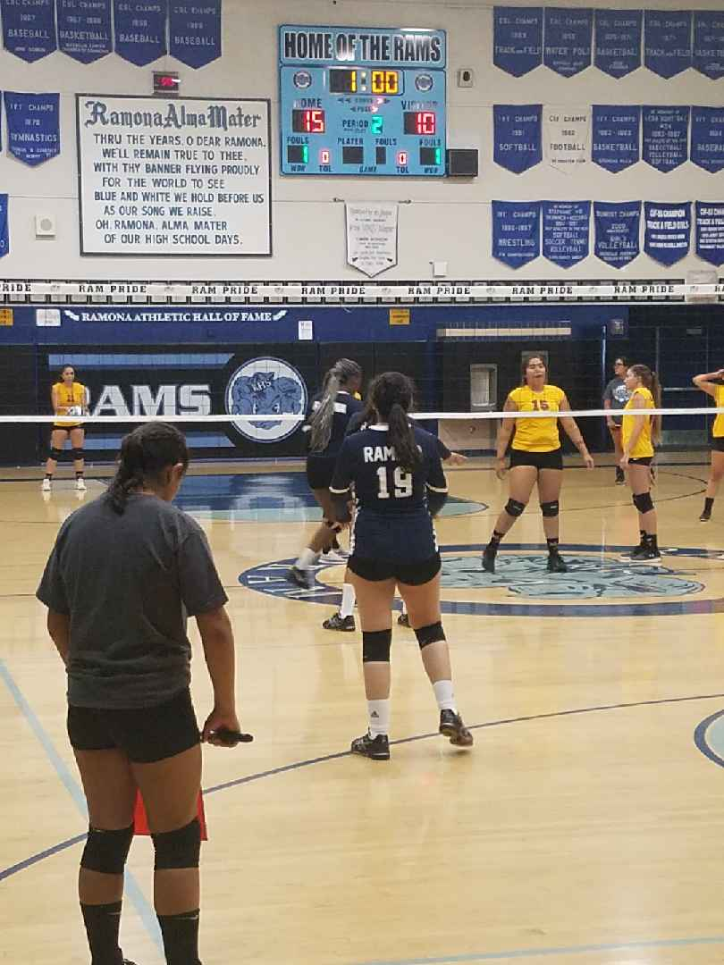 Girls Volleyball defeats Colton in the season opener