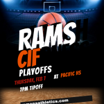 Ramona Basketball travels to Pacific Thursday, Feb for CIF