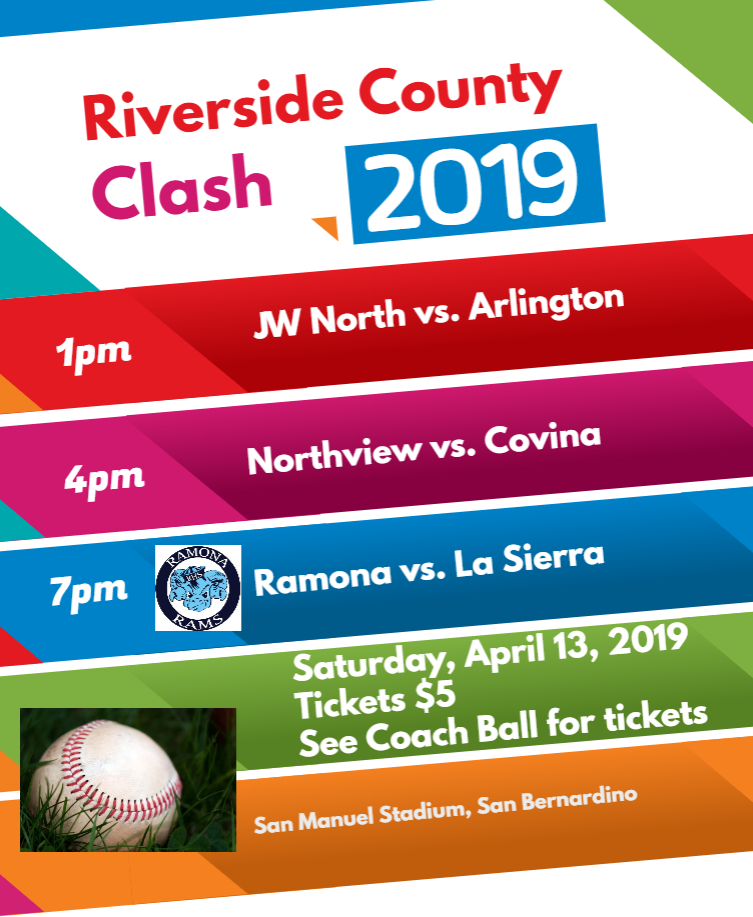 Ramona will play La Sierra in the County Class at San Manuel- April 13