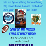 Football Pep Rally Friday at Lunch- Beat Poly