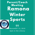 Winter Sports Parent/Coach Meeting