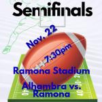 CIF-ss Semifinals  Alhambra at Ramona