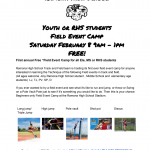 Field Events Clinic – Saturday, Feb 8 for elementary, middle and Ramona High School students