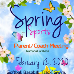 Ramona Spring Sports Parent/Coach Meeting
