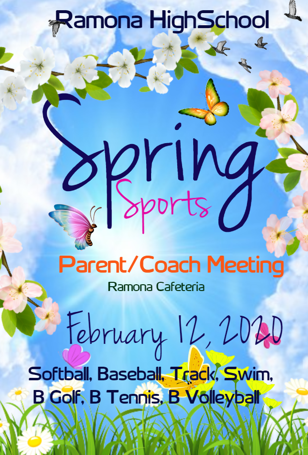Ramona Spring Sports Parent/Coach Meeting