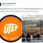 Congratulations to Aaliyah Rebolledo- UTEP softball signing
