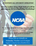 NCAA Virtual Information Night- October 14, 6pm