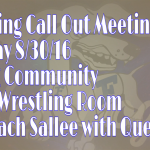 Wrestling Call Out Meeting