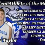 Male Student-Athlete of the Month for November