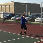 Tennis edged by Crawfordsville