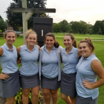 Girls Golf beats Memorial on Senior Night